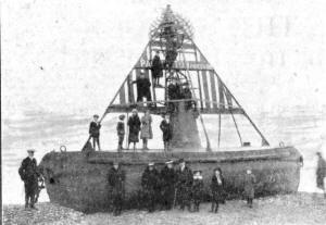 The Packington buoy high & dry at St.Annes in 1914.
