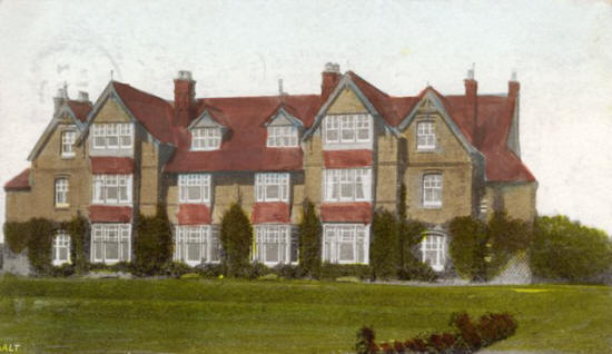 Pembroke House School, Clifton Drive, Ansdell, a Voluntary Aid Detachment Hospital during the 1914-18 War.