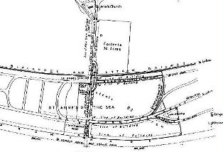 Plan of the proposed town of St.Annes, 1874.