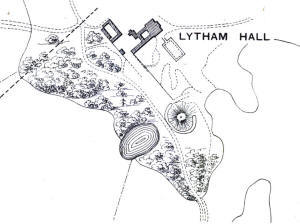 Plan showing the ice house, Lytham Hall c1905.
