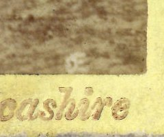 'OE' for Ogle & Edge, photographers, Preston, in the late 1850s.