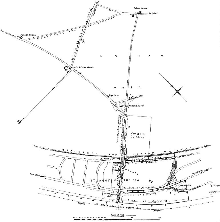 Proposed plan of St.Annes-on-the-Sea c1874