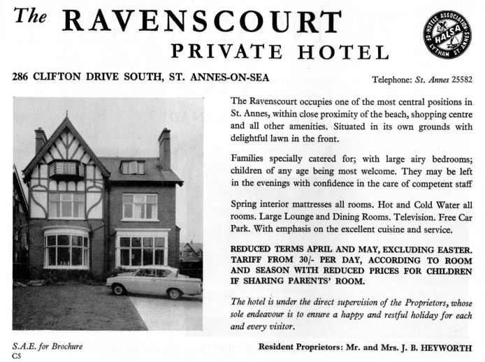 The Ravenscourt Hotel, Clifton Drive South, St.Annes-on-the-Sea.