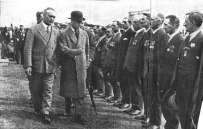 The Prince inspecting Ex-Service Men at St.Annes.