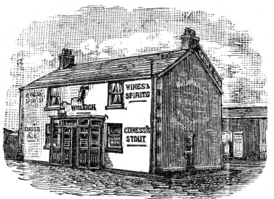 The Saddle Inn, Great Marton, Blackpool, when William and Elizabeth Leigh were landlords.