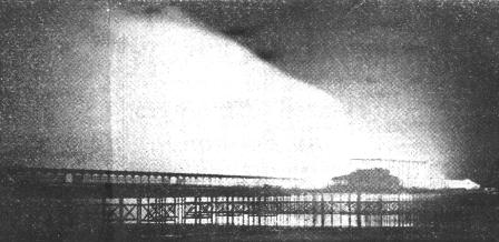 THIS picture, taken when the 1958 South Pier fire was at its height, shows the mass of flames as the domes of the amusement arcade, formerly the Grand Pavilion, collapsed.