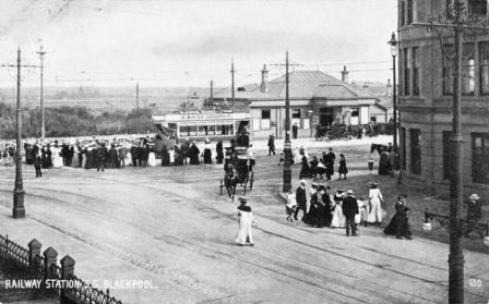 South Shore Station, Lytham Road, Blackpool c1905
