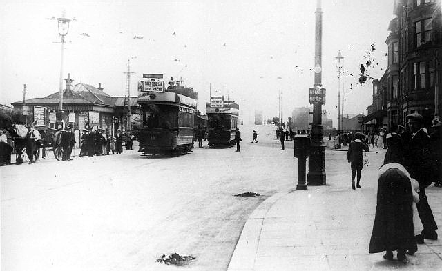 South Shore Station, Lytham Road, Blackpool c1911.