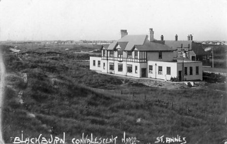 The Blackburn Miners Home, St.Annes on Sea, 1916. Behind is the Thursby Convalescent Home for Burnley Children, built in 1904.