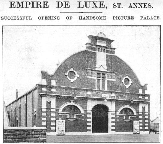 A newspaper report, the opening of the Empire Cinema, St.George's Road, St.Annes.