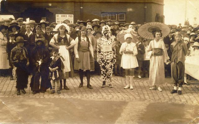 Photo of St.Annes Hospital Fete Day, about 1920.
