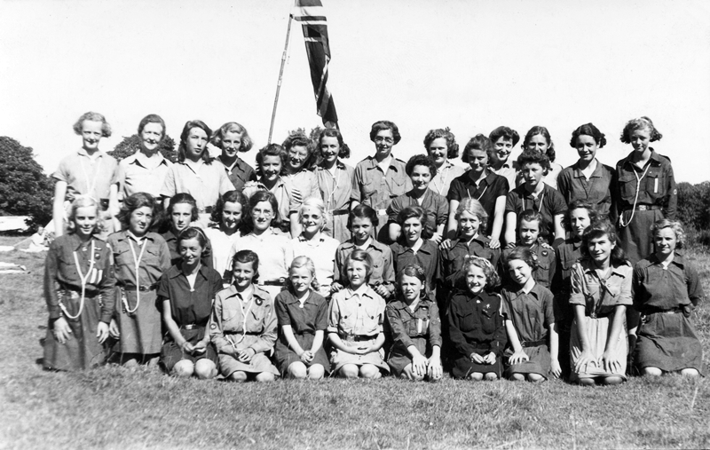 The 9th St Annes-on-Sea Girl Guides in the 1950s.
