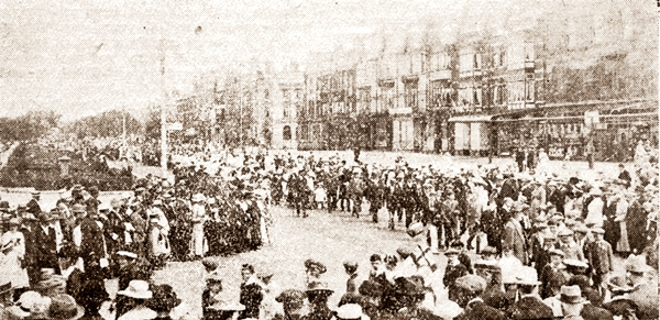 Procession in the Square, St.Annes Peace Celebrations, 1919