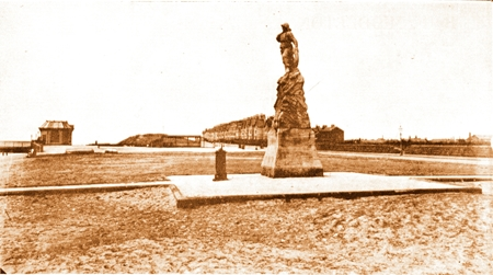 St.Annes Promenade, Lifeboat Monument and Pier c1889.