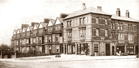 St.Annes Road West (The Square) and the corner of Garden Street c1890.
