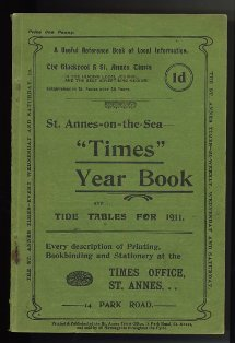 St.Annes-on-the-Sea Times Year Book and Tide Tables for 1911.