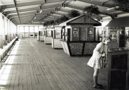 The extension to the Amusement Arcade, St.Annes Pier, completed in the late 1950s.