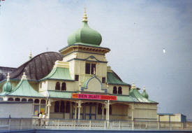 Photo of the Moorish Pavilion, St.Annes Pier shortly before the 1974 fire.