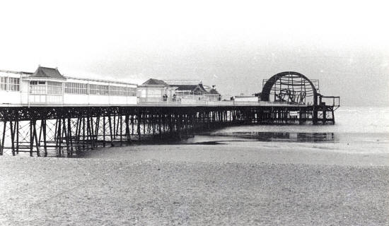 The aftermath of the 1974 fire, St.Annes Pier.