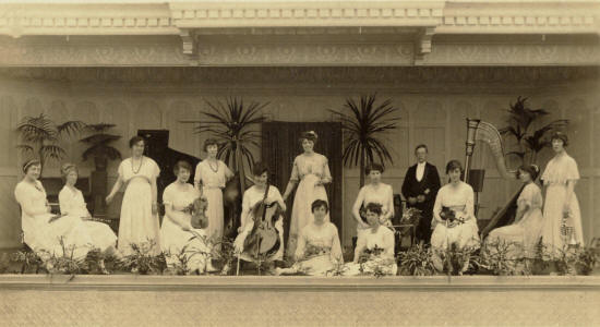 Kate Erl's Ladies Orchestra, The Floral Hall, St.Annes Pier, 1910-20.