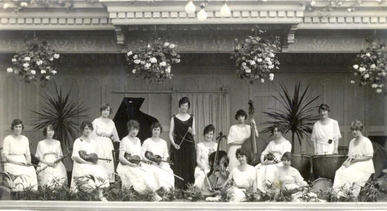 Clarice Dunington's Ladies Orchestra, The Floral Hall, St.Annes Pier, 1921-33.