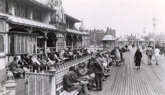 Alongside the Moorish Pavilion, St.Annes pier, in the 1930s.