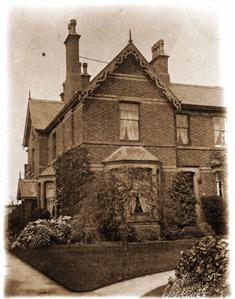 The Willows, Headroomgate Road, the house of the Headmaster, George Sanderson c1903