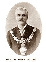 G.W.Spring, Chairman of St.Annes Urban District Council 1904-1906