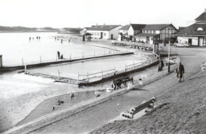 Fairhaven Lake frozen over, January 1962