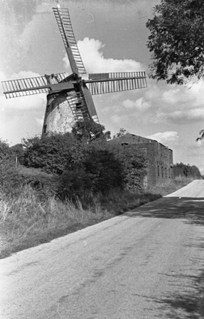 Weeton Windmill in the 1940s or 1950s.