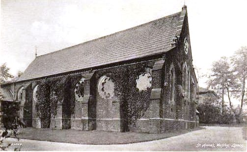 Photograph of Westby Church near Lytham.