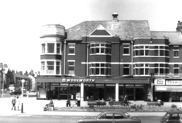 Woolworths, on the corner of St.Annes Square & Clifton Drive North, in 1975.