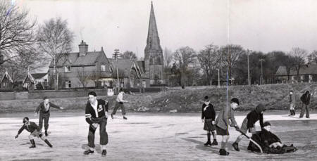 Skating at Wrea Green in the 1950s